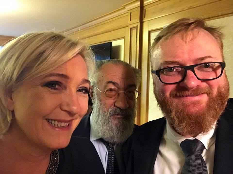 Marine Le Pen au côté de Vitaly Milonov
